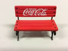 "Vintage 1993 Small/Miniature 2"" Coca-Cola Red Park Bench Dollhouse Christmas"