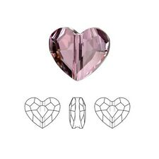 Swarovski Crystal Faceted Love Beads Heart 5741 Antique Pink  8mm Package of 2