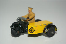 DINKY TOYS 44B 44 B MOTOR CYCLE WITH SIDECAR ANWB DUTCH AA NM RARE SELTEN RARO