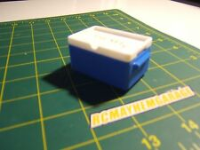 RCMG 1/10 scale blue party stacker ice chest, axial wraith, rc4wd, garage, drift