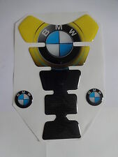 Motorcycle Tank Pad Protector Sticker Carbon | (Bmw) Yellow