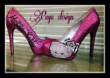 Hello Kitty  pumps, heels, Crystals/Glitter bridal Shoe