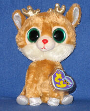 """TY BEANIE BOOS - ALPINE the 6"""" REINDEER - MINT with MINT TAGS"""