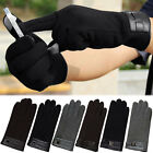 Men's Winter Warm Full Finger Smartphone Touch Screen Cashmere Gloves Mittens NE
