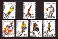 TANZANIE série timbres #sc 1018-1024 les disciplines du sport  381T6