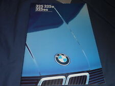 1985 BMW 325 325e 325es 3 Series Six Cylinder USA Market Color Brochure Prospekt