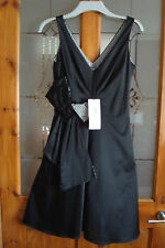 BRAND NEW AND TAGGED BLACK SILKY MARKS AND SPENCERS DRESS SIZE 10
