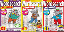 Wordsearch Books - 3 Book set - 408 Puzzles - New (Set 86)