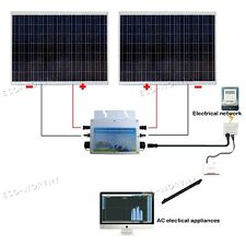 360W Solar Panel System:2*180W 24V SHARP Solar Cell W/ 600W Waterproof Inverter