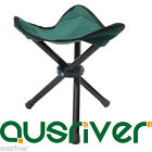 Fishing Outdoor Small Tripod Chair Seat Folding Cloth Portable Stool Green Brown