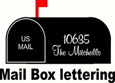 Mail Box Lettering, Personalized, 2 sets of peel & stick, Vinyl Decal Stickers