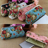 Fashion Women's Coin Purse Money Bag Case Wallet Keys Card Pouch Big Flower Hasp