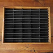 Vintage NAPA Valley Natural Wood Wall Mounted 100 Cassette Tape Storage Rack