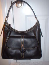 NWT  Dooney & Bourke Black Pebbled  Leather Hobo Handbag