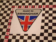 Made in Birmingham Chrome Sticker- Austin Land Rover Mini Allegro A30 A35 Cooper