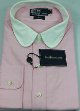 Ralph Lauren Polo Club Dress Oxford Shirt Mens 18 46 Pink White Collar New