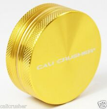 "Cali Crusher Herb, Tobacco and Spice Grinder 2"" Inch 2 Piece Aluminum New Gold"