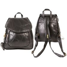 Womens Small Leather Backpack Ladies Rucksack Handbag Black Shoulder Bag