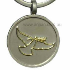 Golden Peace Dove Love Compassion silver keyring for Peace (KR043)
