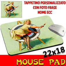 Tappetino Mouse Pad Vintage Pin Up Sexy personalizzato con foto,logo..