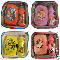 *GENIUN KIDS DISNEY PICNIC INSULATED LUNCH BAG BOYS GIRLS SANDWICH BOX & BOTTLE*