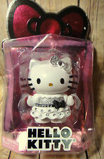 Hello Kitty Limited Edition Collectible Crystal Figure White Black Sequins New