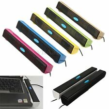 USB Multimedia Music Mini Bar Speaker for Computer PC Laptop Notebook Gift New