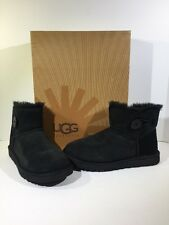 UGG Australia Bailey Button Mini Women's Size 8 Black Ankle Boots Z7-211