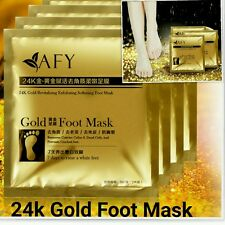 24k Gold Foot Peeling Mask Cuticle Callus Dead Skin Hard Dry Skin Exfoliating UK