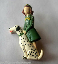 RARE Girl Scout 1948-1951 Figural DALMATION DOG PIN Lapel Broach Jewelry Gift!