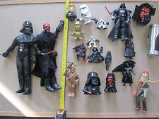 Star Wars Action Figure Lot Set Darth Vader Chewbacca Maul Head  Rubik's cube