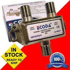 (5) Five - ECODA 22KHz Tone 2x1 Multi Satellite FTA Switches - 0/22 KHz Lot of 5