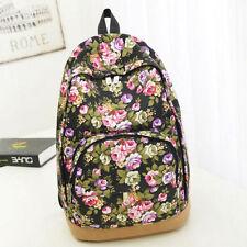 Women Canvas Backpack Bookbag Floral Rucksack Travel School Shoulder Bag Satchel