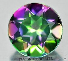 8 MM ROUND  CUT MYSTIC RAINBOW TOPAZ  NATURAL GEMSTONE  AAA