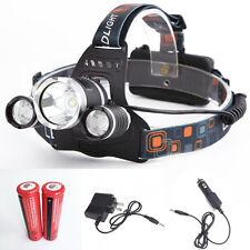 Linterna de cabeza 5000 Lumens 3x CREE XM-L T6 LED FRONTAL