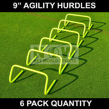 "6 qty. AGILITY HURDLES 9"" Football Rugby Speed Training [Net World Sports]"