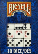 10 Regular Dice Die Bicycle Brand Playing Cards Normal
