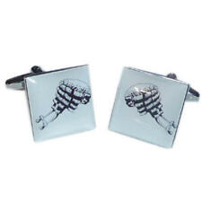 Black & White Judges Wig Picture Cufflinks With Gift Pouch Court Barrister New