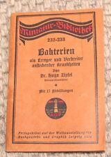Miniatur Bibliothek Bakterien von Dr. Hugo Zipfel Leipzig 1914