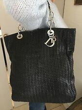 SAC A MAIN CHRISTIAN DIOR SOFT LADY GM CABAS CUIR TRESSE HAND BAG PURSE 1900€