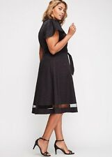 NEW CHRISTIAN SIRIANO LANE BRYANT BLACK SHIRTDRESS SHIRT DRESS SIZE 24