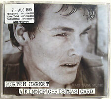 AHA CD Morten Harket A Kind Of Christmas Card UK PROMO UNPLAYED + PROMO STICKER