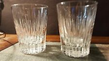 "2 ""Sun Rays"" by Martha Stewart Double Old Fashioned Glasses Tumblers 4 3/8"""