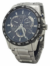 Citizen Eco Drive AT4010-50E Mens Titanium Perpetual Calendar Radio AT Watch