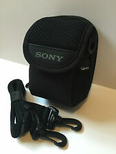 Genuine Sony LCS CFR Soft Carrying Case for T S W Series Cybershot Camera BLACK