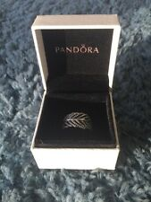 Pandora Light as a Feather Ring, S 7.5 / (56), #190886CZ Silver 925 Leaf Ring