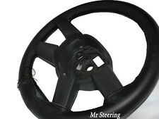 FITS FORD MONDEO MK3 2000-2007 REAL BLACK ITALIAN LEATHER STEERING WHEEL COVER