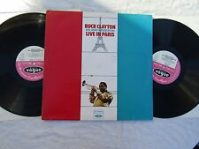 BUCK CLAYTON JIMMY WITHERSPOON double lp LIVE IN PARIS vogue vjd 527 EX+
