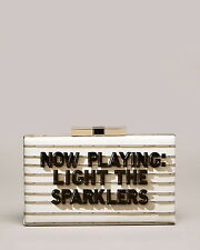 "KATE SPADE CINEMA CITY SAMIRA CLUTCH ""NOW PLAYING LIGHT THE SPARKLERS"" BOOK WOW"