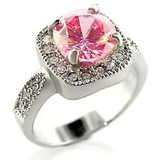 $25 Fashion Ring Rose Pink CZ Cubic Zirconia Size 8